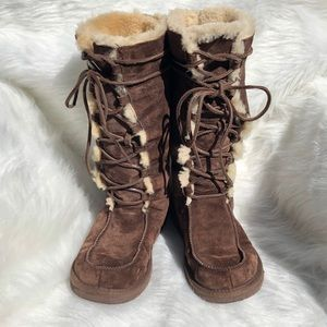 UGG Shoes - Uggs Uptown brown suede lace up boot sz 8